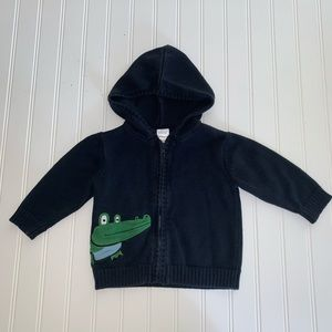 Gymboree alligator 🐊 knitted hooded sweater